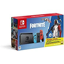 Nintendo Switch - Consola color Azul Neón/Rojo Neón + Fortnite (Código de descarga