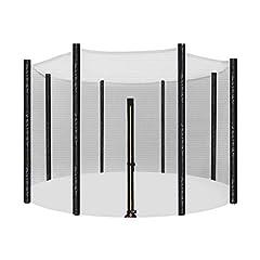 Idea Regalo - SONGMICS Rete di Ricambio da 305 cm per Trampolino, Rete di Sicurezza per 8 Pali Diritti, Recinzione Rotonda a Maglie, STN10FT