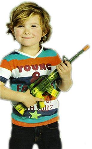 M4 Green Weapon XXL Rattergewehr Spielzeuggewehr Spielzeug Gewehr mit RATTER-SOUND 46cm (Spielzeug Gewehr Black Ops)