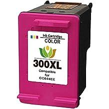 300 Cartuchos Reemplazo para HP 300 XL Compatible cartuchos de tinta para impresora HP Deskjet D1600 D1660 D1663 D2500 D2530 D2545 D2560 D2563 D2566 D2600 D2645 D2660 D2663 D2666 D2668 D2680 D5560 F2400 F2410 F2418 F2420 F2423 F2430 F2440 F2480 F2483 F2488 F2492 F2493 F4200 F4210 F4213 F4224 F4230 F4225 F4240 F4250 F4272 F4273 F4274 F4275 F4280 F4283 F4288 F4290 F4400 F4424 F4435 F4440 F4450 F4470 F4472 F4473 F4480 F4483 F4488 F4492 F4580 F4583, HP Photosmart C4780 C4680 CC640EE (1 Color)