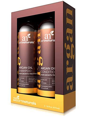 ArtNaturals Marokkanisches Arganöl Haarausfall Shampoo & Conditioner Set - 2 x 473 ml - Sulfatfrei - Behandlung bei Haarausfall, dünner werdendes Haar & Haarwachstum, Männer & Frauen