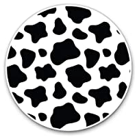 Awesome Vinyl Stickers (Set of 2) 7.5cm - Funky Cow Print Pattern Animals Fun Decals for Laptops,Tablets,Luggage,Scrap Booking,Fridges,Cool Gift #8463