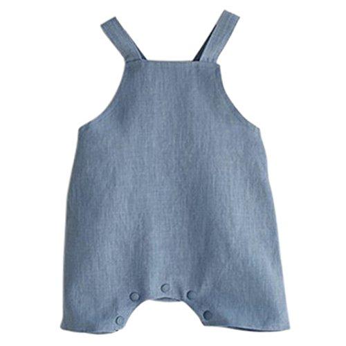 Loveble Baby Mädchen Jungen Unisex Overalls Baumwolle und Leinen Kurze Hosen Hosen Simper Hosen (Kostüme Kleine Leute Für)