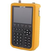 """Satlink WS-6909 - Medidor de señal satélite DVB-S DVB-T FTA (gama de frecuencias: 46-870 MHz, gama de frecuencias de entrada: 950-2150 MHz, pantalla TFT de 3,5"""")"""