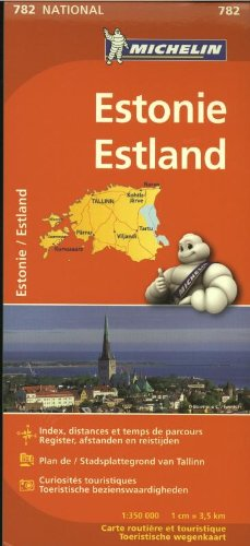 ESTONIE / ESTLAND 11782 CARTE ' NATIONAL ' MICHELIN KAART