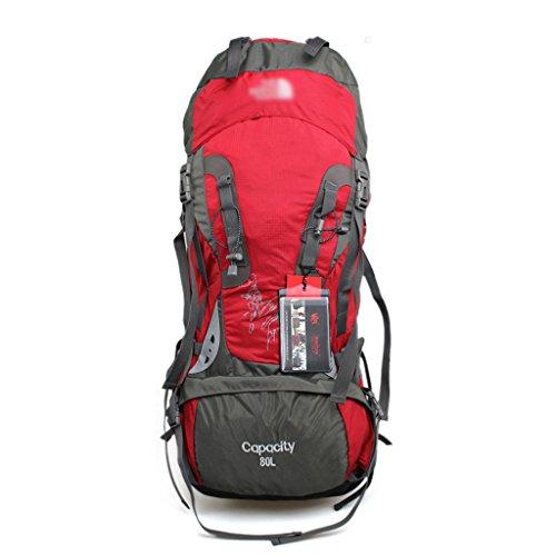 Im Freien bewegliche Paket Rucksackbeutel Männer und Frauen Tasche mit großer Kapazität Alpinismus Rot