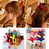 #7: SLB Works Brand New Fashion 10pcs Hair Tie Band Ponytail Holder Elastic Rubber Clear Women HU