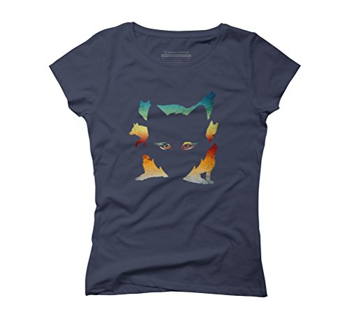 Wolf Pack Women's Graphic T-Shirt - Design By Humans Navy