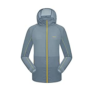 Nimble House ® ™UV Protect/Quick Dry Windproof Breathable Hooded Jacket for Men & Women (Color-Grey Size-M)