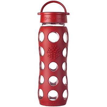 Lifefactory Gourde en verre avec bouchon classique, rouge, 650 ml