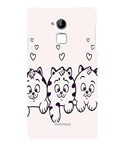 printtech Cute Kitten Back Case Cover for Coolpad Note 3 Lite