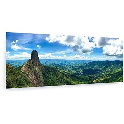 Panorama - Piedra Pecho - Sao Paulo - Brasil - 200x80 cm - weewado - Impresiones sobre lienzo - Muro de