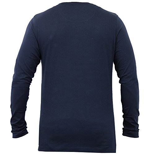 Herren Top T Shirt By Brave Soul Rundhals Marineblau - 69PRAGUEB