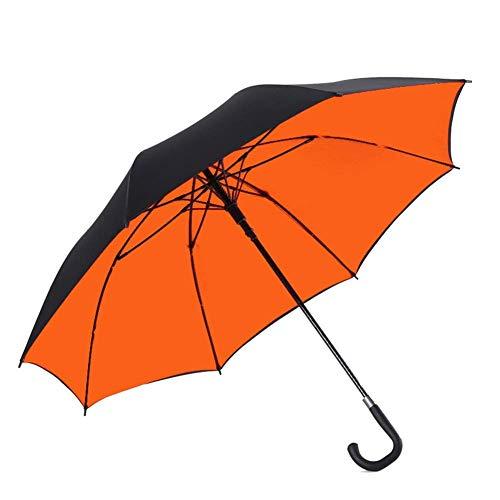 BJYG Sonnenschirm-Regenschirm Reiseregenschirm - Leichter Anti-UV-Sonnenregenschirm für Herren Damen, Winddichte Kompaktschirme (Farbe: ORANGE)