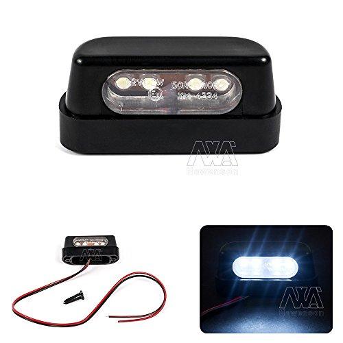 Hohe Qualität Motorrad 12V Universal schwarz LED Kennzeichenbeleuchtung Rücklicht (Emark)