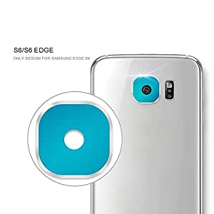 Rear Camera Lens Metal Protective Ring Guard Cover Protector for Samsung Galaxy S6 - S6 Edge Lens Protector (BLUE)