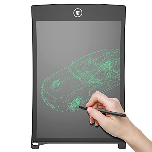 writer tablet angmno 8.5 inch writing tablet for drawing and learning Office Memo e-writer Pad Message Board (Black) ...