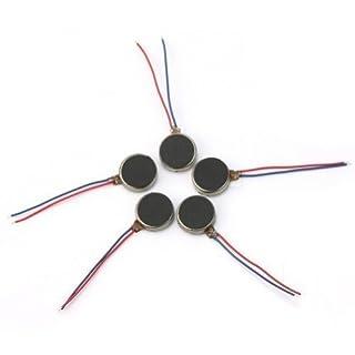 AllLife Micro-Motoren für Vibration (3-4,5 V), flach, 10 mm Durchmesser, zur Nutzung in Mobiltelefonen, 5 Stück