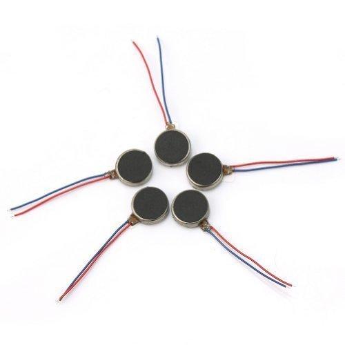 AllLife Micro-Motoren für Vibration (3-4,5 V), flach, 10 mm Durchmesser, zur Nutzung in Mobiltelefonen, 5 Stück (Durchmesser-motoren)