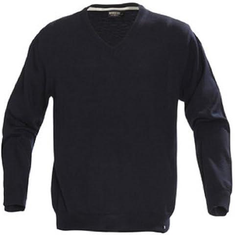 Maglione da uomo con collo a V, in 100% lana Merino Extra Fine Baruffa in 3 colori disponibili, misure: S-XXXL