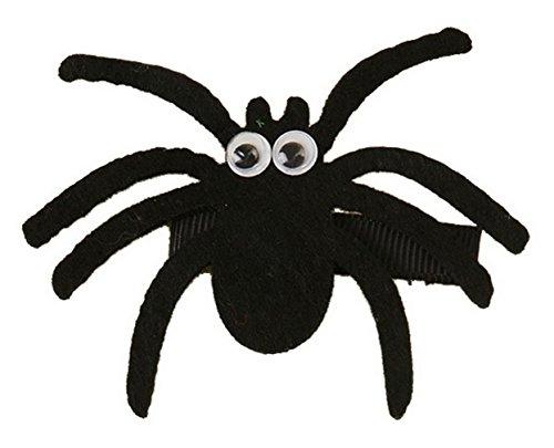 EOZY Mädchen Süße Haarspange Haarclip mit Spinne Holloween Kinder Haar Schmuck Kostüme Zubehör Schwarz