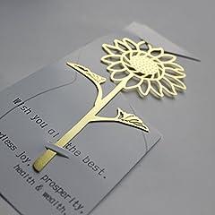 Idea Regalo - Segnalibri in metallogirasole incisione su misuraregalo creativo di graduazioneregalo di compleanno-d'oro