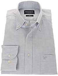 178650 - Bots & Bots - Camisa para Hombre - 55% Algodón / 45 % Lino - Button Down - Normal Fit
