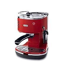De'Longhi Icona Eco 311.R Macchina da Caffè Espresso Manuale, Caffè in Polvere o in Cialde E.S.E., 1100 W, Rosso