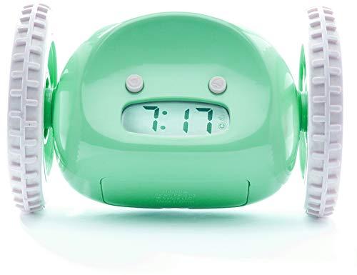 Nanda Home Clocky Wecker auf Rädern Grün