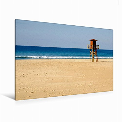 Leinwand Atlantikstrand bei Cadiz 120x80cm, Special-Edition Wandbild, Bild auf Keilrahmen, Fertigbild auf hochwertigem Textil, Leinwanddruck, kein Poster