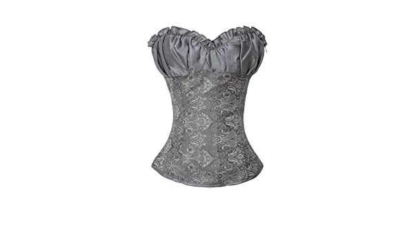 55d9fbd394 Renaissance Corset Top Argentous  Amazon.co.uk  Clothing