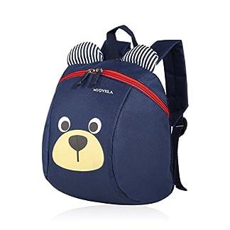 Kongqiabona lindo oso mochila unisex para niños pequeños con arnés de seguridad anti-perdido para el bolso preescolar de niños pequeños