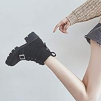 c7e3cdd4f398d HOESCZS Martin Boots Scarponcino da Donna con Tacco Alto da Donna in Pelle  Stivali da Donna