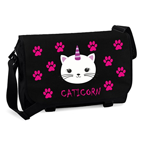 Sac-Messenger-Cartable-Sac-Dtudiant-Sac-Bandoulire-Caticorn-noir