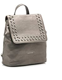 Mariamare AMBAR-C43517 - Bolso mochila de Sintético para mujer Gris Naps Plomo Pewter/