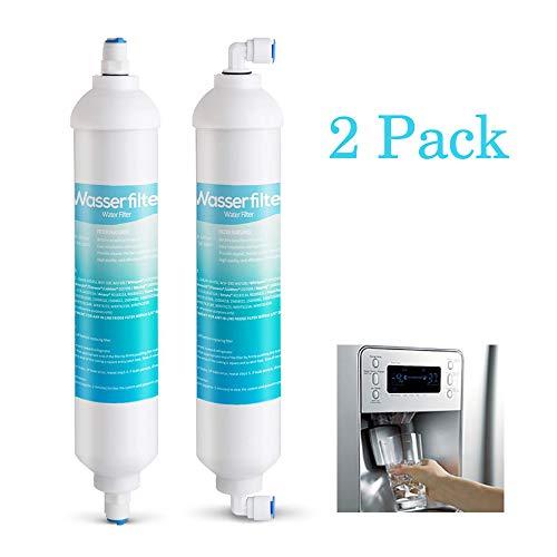 """2er Kühlschrankfilter Wasserfilter für Kühlschrank Samsung side by side DA29-10105C,DA29-10105E,DA29-10105J, WSF100, WAF100 usw.Filter Aktivkohlefilter Ersatz extern mit 4x 1/4""""Universal Anschlussset"""