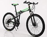 Hycy 26 Zoll Falten Mountainbike Doppelscheibenbremsen Mountainbike Stoßdämpfer EIN Rad Wechselnden Fahrrad,B