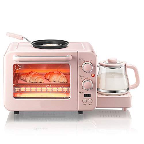 YYD Mini Horno Máquina multifunción para el Desayuno - Tostadora Horno eléctrico pequeño Omeletización eléctrica Aislamiento de Tubos Superior e Inferior Cocina