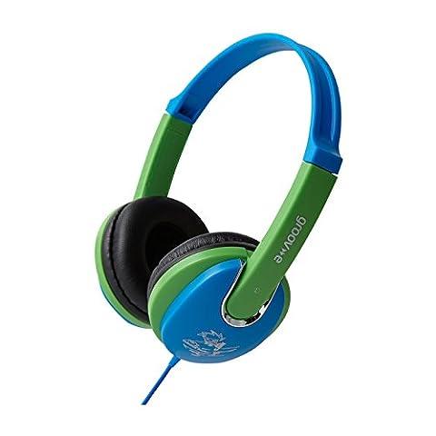Groov-e Kiddiez, Kids Headphones with Volume Limiter - Blue/Green