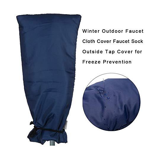 Large Size Outdoor Wasserhahn Abdeckung - Winter Outdoor 150D Oxford Tuch Wasserhahn Abdeckung Socken Frostschutz, wasserdicht und winddicht, Outdoor Tap Jacke -