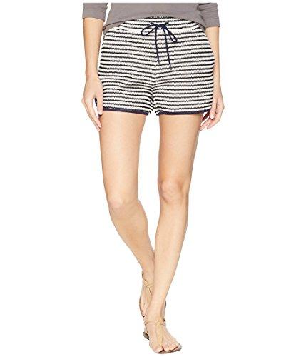 Splendid Damen Drawcord Shorts, Marineblau/weiß, Mittel Drawstring-gaze Hosen