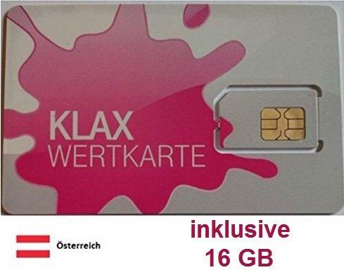 Prepaid Daten Sim Karte (mobiles Internet) für Österreich mit 16 GB Guthaben (Tmobile Sim Iphone 4)