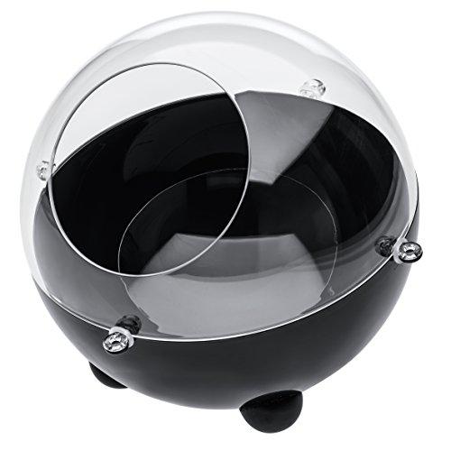 Koziol Dispensador de Cápsulas Orion Small, Contenedor de Cápsulas, Conservación, Negro, 2026101