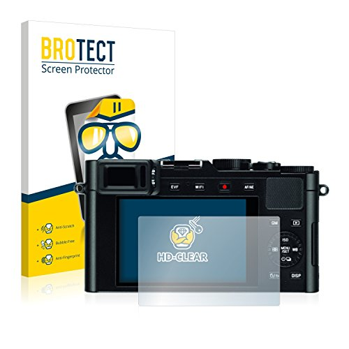 2x BROTECT Displayschutzfolie Leica D-LUX (Typ 109) Schutzfolie Folie - Klar, - Leica Kamera-tasche