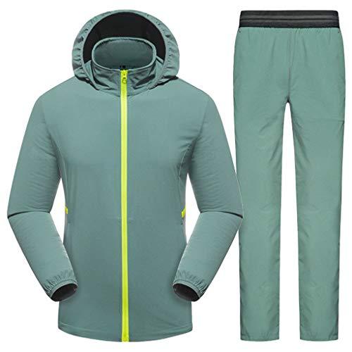 SOLELING Giacca da uomo impermeabile Giacca a vento con cappuccio Giacca a vento Zip intera con giacche antivento per escursioni in campeggio all'aperto