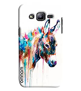 Omnam Donkey Made Of Colors Printed Designer Back Cover Case For Samsung Galaxy J2