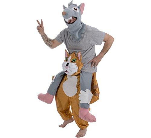 Und Maus Katze Kostüm - Generique - Carry Me Katze-Maus-Kostüm für Erwachsene Einheitsgröße