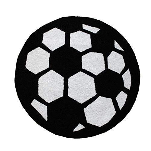MMZX Teppich, Europa und Amerika schwarz - weißen fußball - Trend hängenden Korb Rattan - Matte...