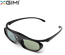 Electropolis XGIMI Active DLP-Link Liquid Crystal Shutter Rechargeable 3D Glasses for H1 Z4 Aurora Z4X and All DLP 3D Ready Projector