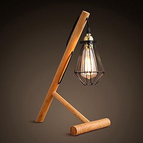 moderna de la madera cuna creativa minimalista registra Edison de la lámpara bombilla de la lámpara retro sombra jaulas pequeñas de
